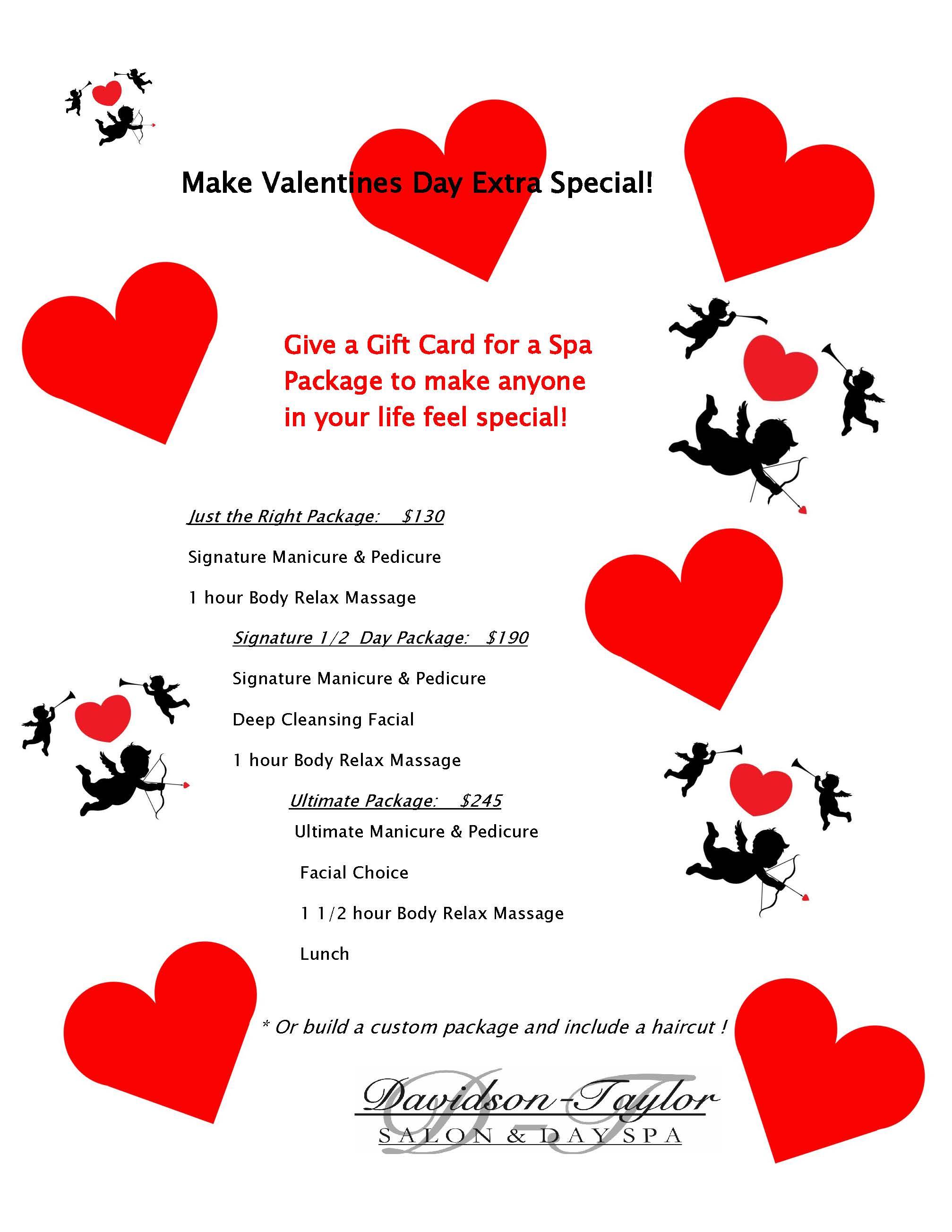 Valentines Specials Davidson Taylor Spa